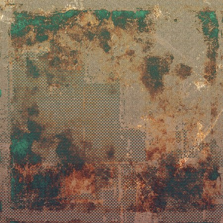 green brown: Grunge texture, scratched surface, vintage background. With different color patterns: yellow (beige); brown; green; gray