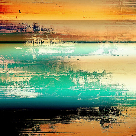 shadowy: Highly detailed grunge background or scratched vintage texture. With different color patterns: yellow (beige); green; blue; red (orange); black Stock Photo