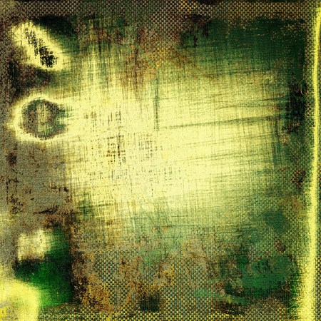 crosshatching: Grunge texture in ancient style, aged background with creative decor and different color patterns: yellow (beige); brown; green; gray; black Stock Photo