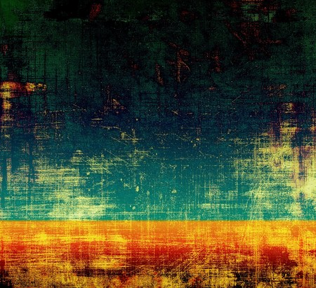 black and red: Grunge background for your design, aged shabby texture with different color patterns: yellow (beige); green; blue; red (orange); black