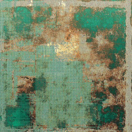 shadowy: Grunge design composition over ancient vintage texture. Creative background with different color patterns: yellow (beige); brown; green; blue; gray