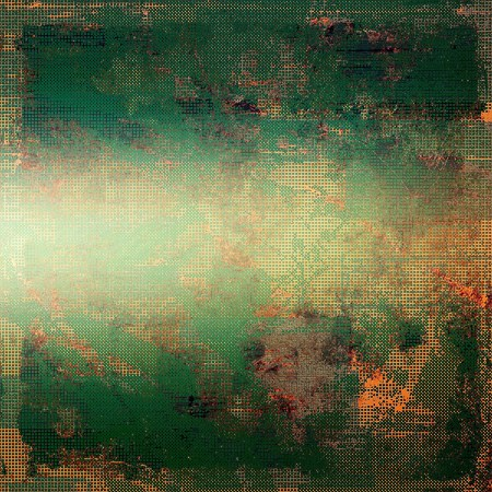 grime: Grunge background with delicate aged texture. With different color patterns: yellow (beige); brown; green; red (orange); gray