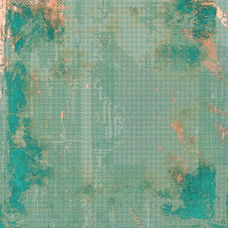 smudged: Grunge texture, scratched surface, vintage background. With different color patterns: brown; blue; gray; cyan Stock Photo