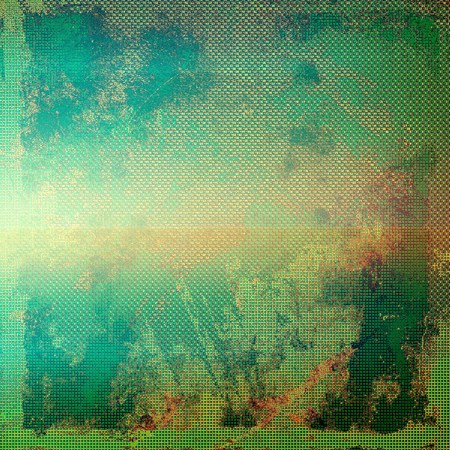grime: Retro design on grunge background or texture. With different color patterns: blue; green; yellow (beige); brown; red (orange)