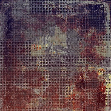 obscure: Retro style graphic composition on textured grunge background. With different color patterns: brown; purple (violet); red (orange); gray; pink