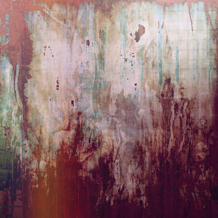 violet red: Old style frame, grunge textured background with different color patterns: brown; purple (violet); red (orange); gray; pink Stock Photo