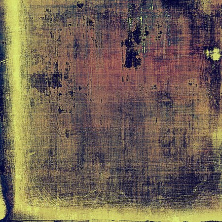 shadowy: Retro vintage style elements on aged grunge texture. With different color patterns: yellow (beige); brown; purple (violet); gray; pink Stock Photo