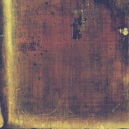 artist's canvas: Scratched vintage texture, grunge style frame or background. With different color patterns: yellow (beige); brown; purple (violet); gray; pink Stock Photo