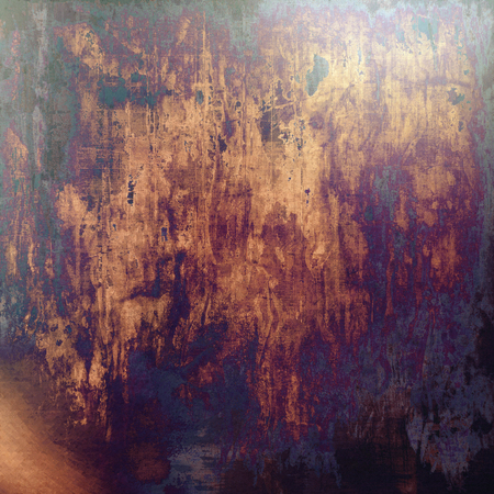 smudged: Old school elements on textured grunge background. With different color patterns: yellow (beige); brown; purple (violet); black; pink