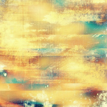 shadowy: Vintage old retro background with ancient style design elements and different color patterns: yellow (beige); brown; blue; red (orange); cyan Stock Photo