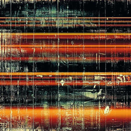 eroded: Abstract retro design composition. Stylish grunge background or texture with different color patterns: yellow (beige); brown; blue; red (orange); black