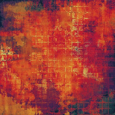 degraded: Vintage torn texture or stylish grunge background with ancient design elements and different color patterns: yellow (beige); red (orange); purple (violet); gray; pink