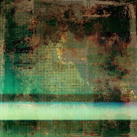 degraded: Abstract colorful background or backdrop with grunge texture and different color patterns: yellow (beige); brown; green; blue