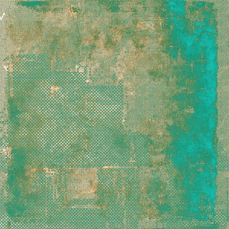 crosshatch: Vintage style background with ancient grunge elements. Aged texture with different color patterns: brown; green; blue; gray; cyan Stock Photo