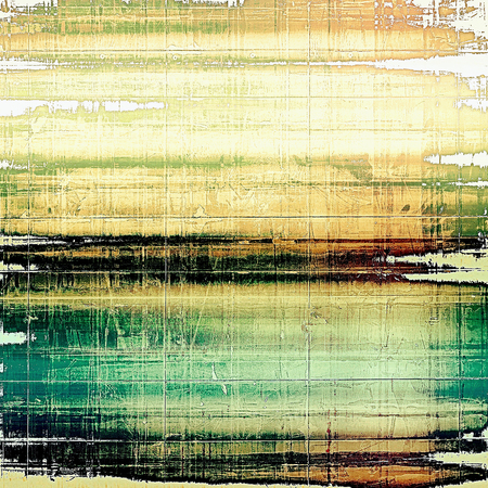 obscure: Weathered grunge elements on vintage texture for your design. Aged background with different color patterns: yellow (beige); green; blue; black; white