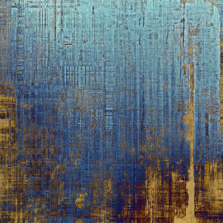 creased: Vintage elegant background, creased grunge backdrop with aged texture and different color patterns: yellow (beige); brown; blue; cyan