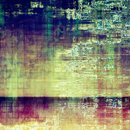urban decay: Old grunge background or aged shabby texture with different color patterns: yellow (beige); green; blue; purple (violet); pink