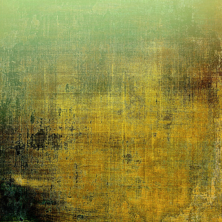 classic contrast: Grunge texture in ancient style, aged background with creative decor and different color patterns: yellow (beige); brown; green; gray Stock Photo