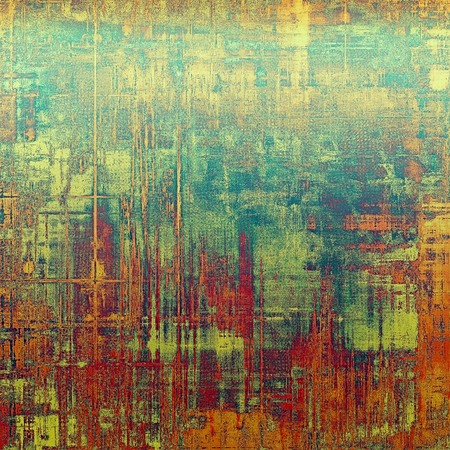 nice looking: Beautiful retro background, nice looking ancient texture with different color patterns: yellow (beige); green; blue; red (orange); pink