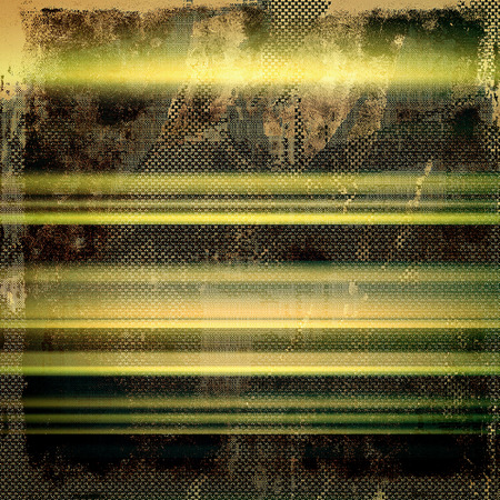 urban decay: Old style decorative composition or template design with textured grunge elements. With different color patterns: yellow (beige); brown; green; gray; black