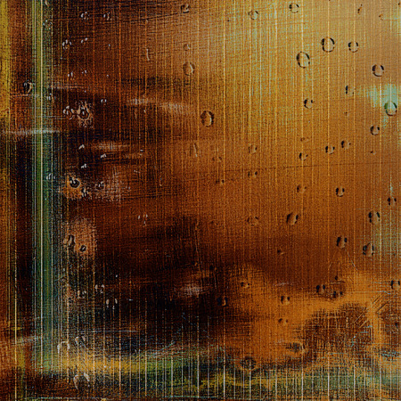 rusted: Abstract colorful background or backdrop with grunge texture and different color patterns: yellow (beige); brown; green; red (orange)