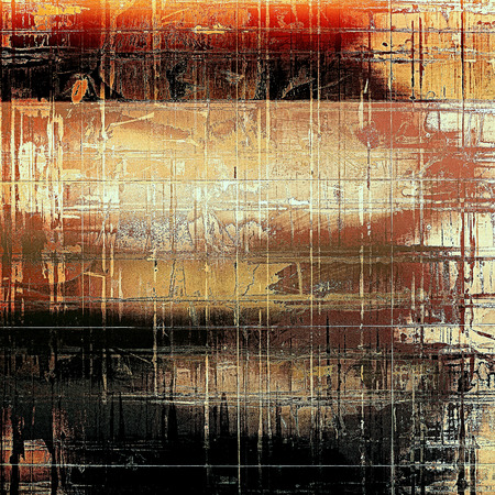 urban decay: Grunge design composition over ancient vintage texture. Creative background with different color patterns: yellow (beige); brown; red (orange); white; black