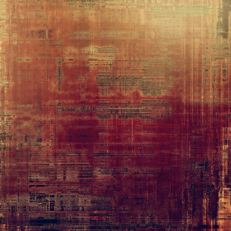 corrosion: Vintage style background with ancient grunge elements. Aged texture with different color patterns: yellow (beige); brown; purple (violet); red (orange); gray; pink Stock Photo
