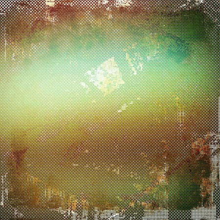 creased: Vintage elegant background, creased grunge backdrop with aged texture and different color patterns: yellow (beige); brown; green; gray; cyan