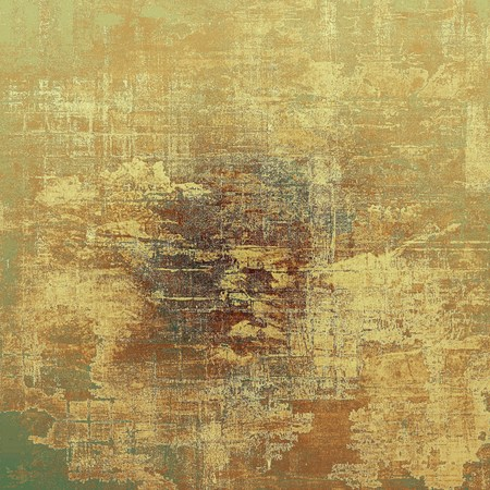urban decay: Old style frame or composition, grunge textured background with different color patterns: yellow (beige); brown; green; gray Stock Photo