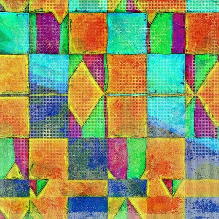 orange texture: Geometric hi res grunge texture or retro background. With different color patterns: yellow (beige); green; blue; purple (violet); red (orange) Stock Photo
