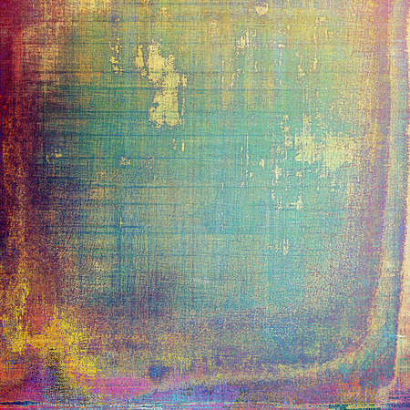 crosshatched: Art graphic texture for grunge abstract background. Aged colorful backdrop with different color patterns: yellow (beige); green; blue; purple (violet); red (orange); pink Stock Photo