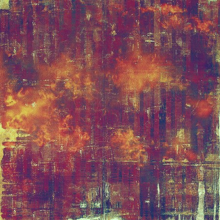 corrosion: Colorful grunge background, tinted vintage style texture. With different color patterns: yellow (beige); brown; red (orange); purple (violet); pink