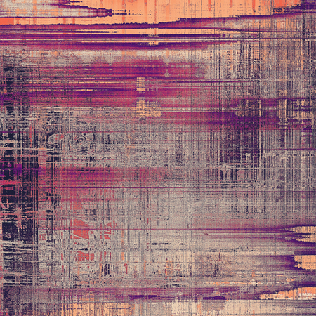 eroded: Vintage elegant background, creased grunge backdrop with aged texture and different color patterns: yellow (beige); gray; red (orange); purple (violet); pink