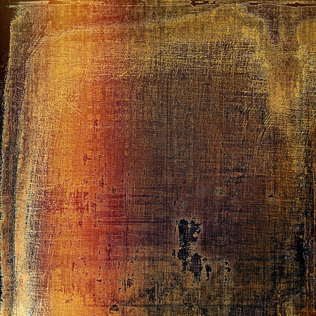 gloomy: Old abstract texture used as shabby grungy background. With different color patterns: yellow (beige); brown; gray; red (orange); pink; black