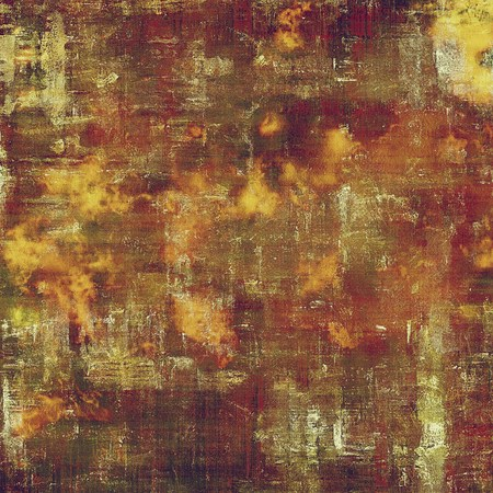 Old school elements on textured grunge background. With different color patterns: yellow (beige); brown; gray; red (orange); purple (violet); pink