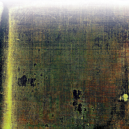 degraded: Retro design on grunge background or aged faded texture. With different color patterns: yellow (beige); brown; gray; green; purple (violet)