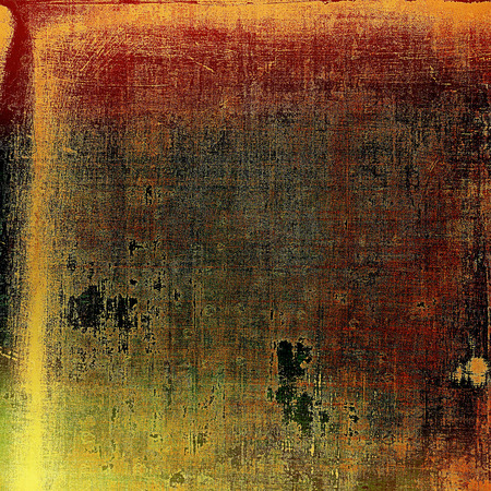 obscure: Old grunge background or aged shabby texture with different color patterns: yellow (beige); brown; gray; red (orange); green; black Stock Photo