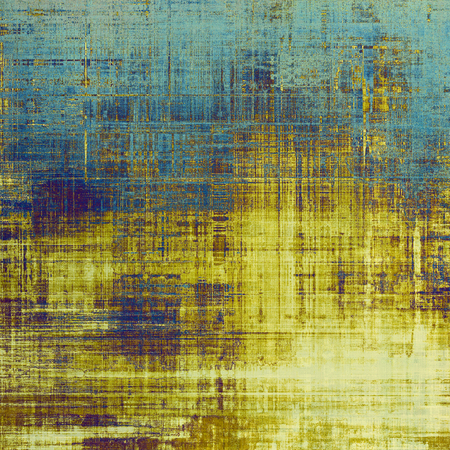 shadowy: Sharp textured background, aged vintage backdrop with grungy style elements and different color patterns: yellow (beige); brown; gray; blue; purple (violet); cyan Stock Photo