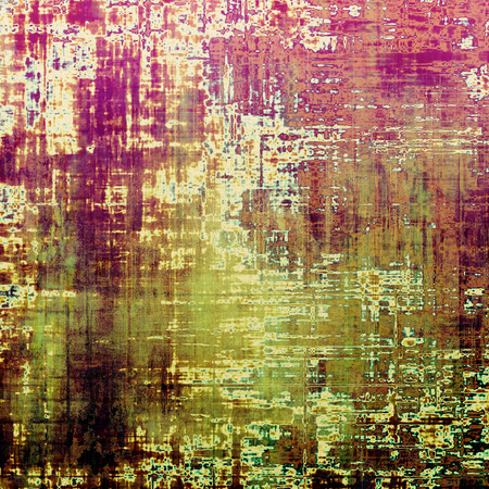 violet red: Retro style abstract background, aged graphic texture with different color patterns: brown; red (orange); green; purple (violet); pink; white Stock Photo