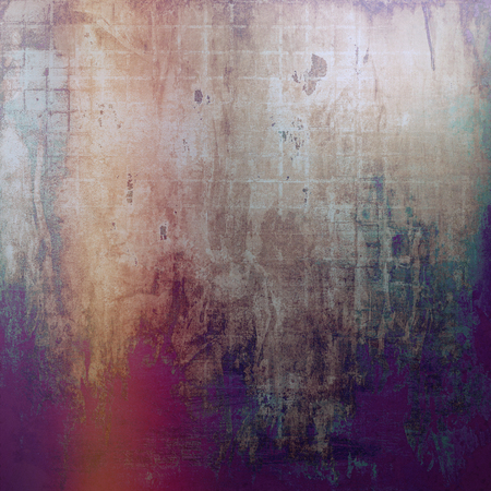 violet red: Vintage style designed background, scratched grungy texture with different color patterns: yellow (beige); brown; gray; red (orange); green; purple (violet)