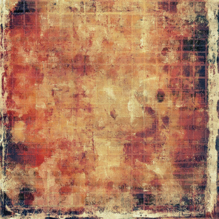 degraded: Distressed grunge texture, damaged vintage background with different color patterns: yellow (beige); brown; red (orange); gray; pink; black Stock Photo