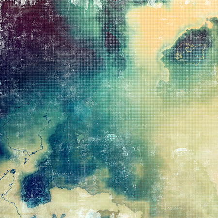 degraded: Old, grunge background or damaged texture in retro style. With different color patterns: yellow (beige); brown; green; blue; gray; cyan