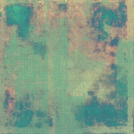 eroded: Old style design, textured grunge background with different color patterns: yellow (beige); brown; green; blue; gray; cyan