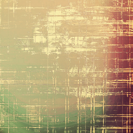 degraded: Background with grunge elements on vintage style old texture. With different color patterns: yellow (beige); brown; green; red (orange); gray; purple (violet)