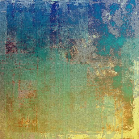 degraded: Colorful grunge texture or background with vintage style elements and different color patterns: yellow (beige); brown; green; blue; gray; cyan