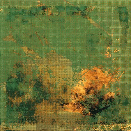 obscure: Old crumpled grunge background or ancient texture. With different color patterns: yellow (beige); brown; green; gray