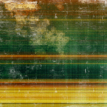 blemish: Background with grunge elements on vintage style old texture. With different color patterns: yellow (beige); brown; green; red (orange) Stock Photo