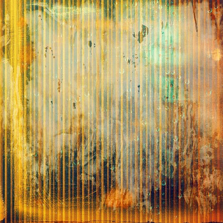 crosshatching: Colorful grunge texture or background with vintage style elements and different color patterns: yellow (beige); brown; green; red (orange); gray Stock Photo