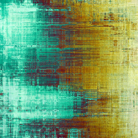 oldest: Oldest vintage background in grunge style. Ancient texture with different color patterns: yellow (beige); brown; blue; red (orange); cyan Stock Photo