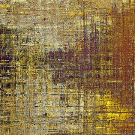 eroded: Vintage torn texture or stylish grunge background with ancient design elements and different color patterns: yellow (beige); brown; gray; purple (violet)